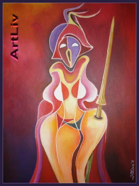 Picturi abstracte/ moderne ,,visul erotic al cavalerului singuratic,,