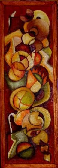 Picturi abstracte/ moderne Pui  gemeni