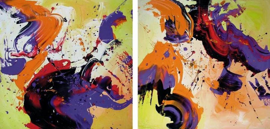 Picturi abstracte/ moderne Atunci cand ziua firuieste