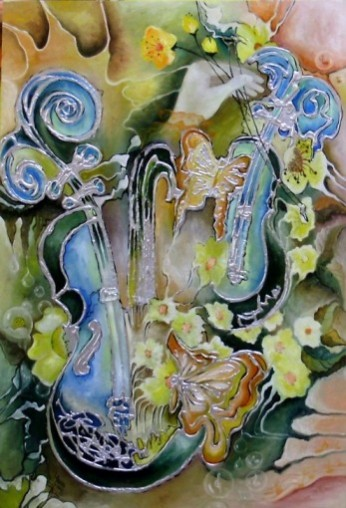 Picturi abstracte/ moderne Concert in poienita cu flori