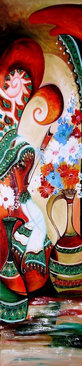 Picturi abstracte/ moderne La izvorul dorului