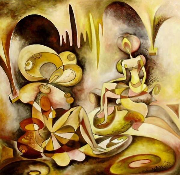 Picturi abstracte/ moderne La taifas cu dona toamnei