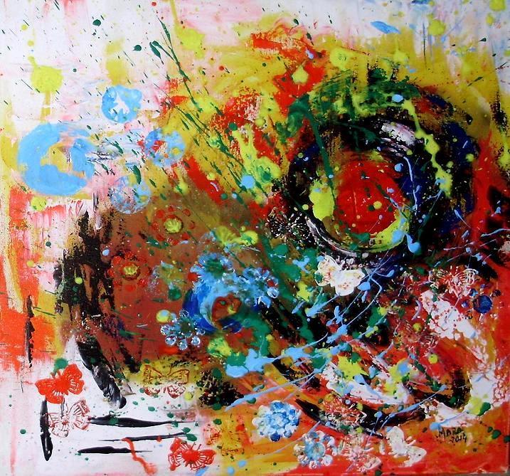Picturi abstracte/ moderne Un apus de luna plina