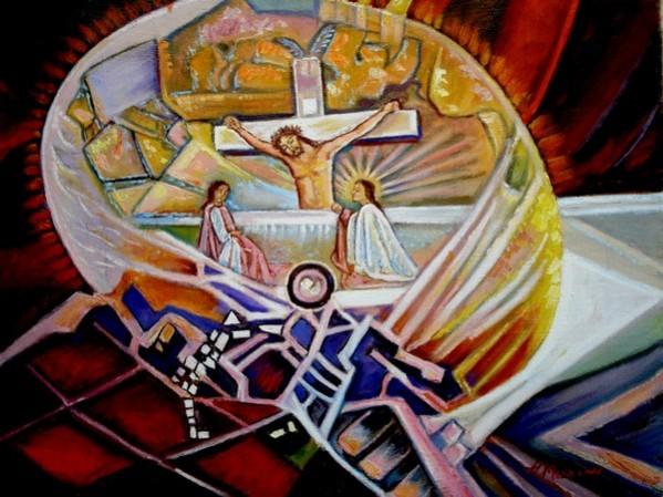 Picturi abstracte/ moderne Crucifix3
