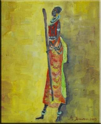 Picturi abstracte/ moderne Femeia zulu 3