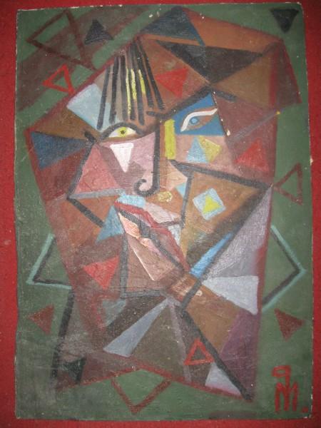 Picturi abstracte/ moderne Autoportret cubist 3