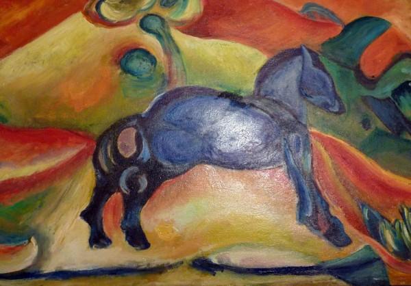 Picturi abstracte/ moderne Calut albastru