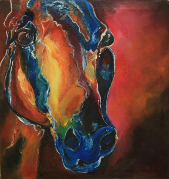 Picturi abstracte/ moderne Fratele calului albastru