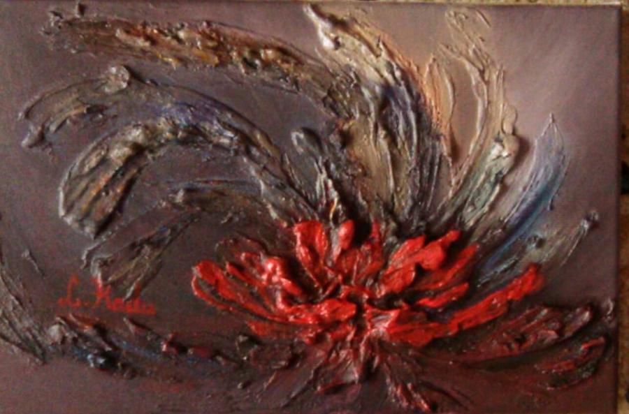 Picturi abstracte/ moderne Rosu campului