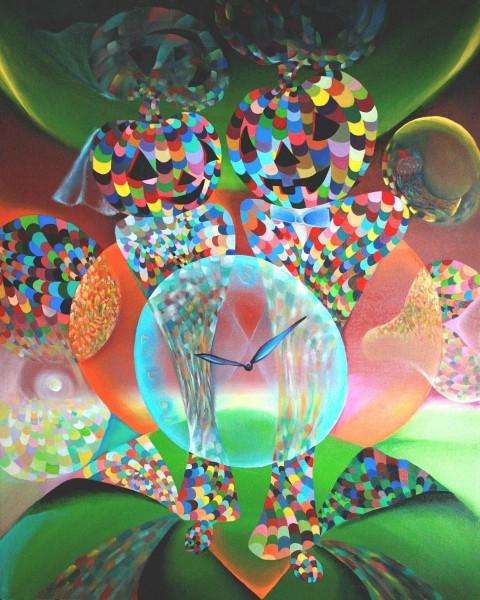 Picturi abstracte/ moderne Nunta Halloween  130.8x100
