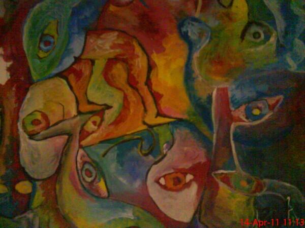 Picturi abstracte/ moderne Crampe