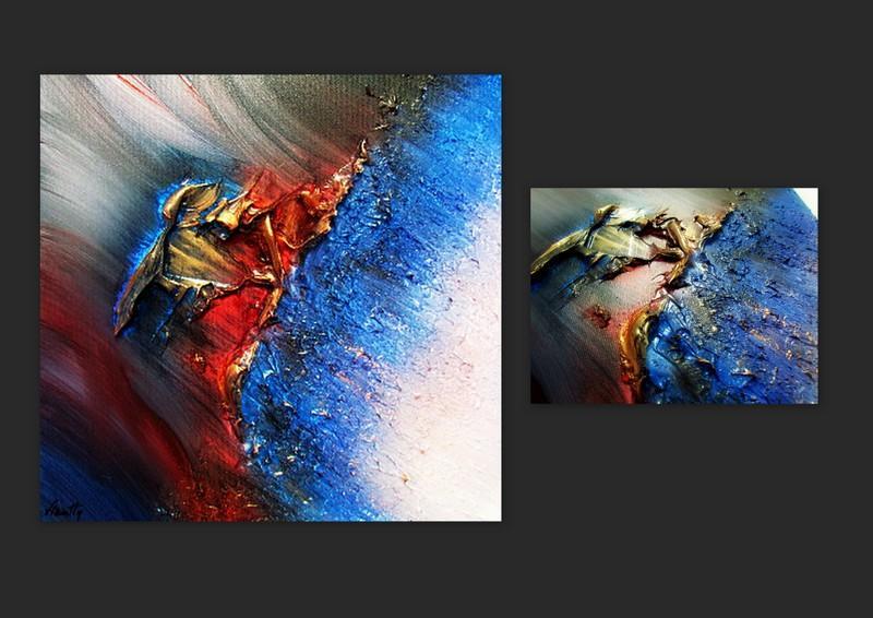 Picturi abstracte/ moderne ACVAMARIN 1