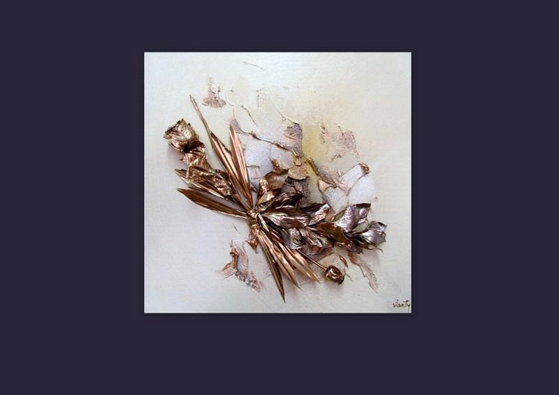 Picturi abstracte/ moderne GOLD FLOWER