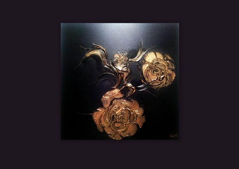 Picturi abstracte/ moderne GOLD ROSES 2