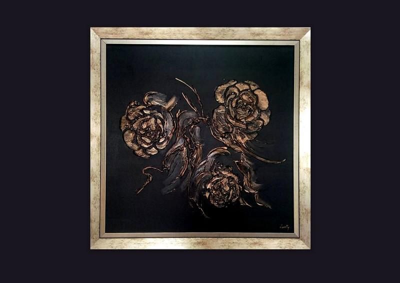 Picturi abstracte/ moderne GOLD ROSES 3