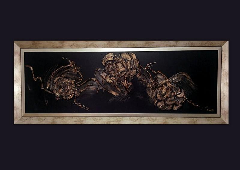 Picturi abstracte/ moderne GOLD ROSES 5