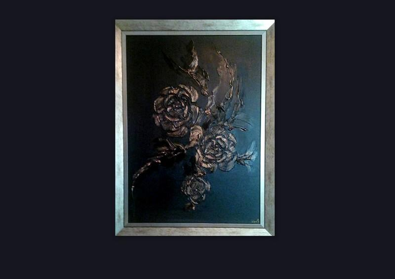 Picturi abstracte/ moderne GOLD ROSES 6