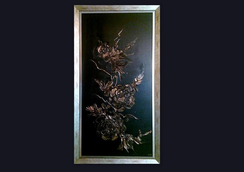 Picturi abstracte/ moderne GOLD ROSES 8