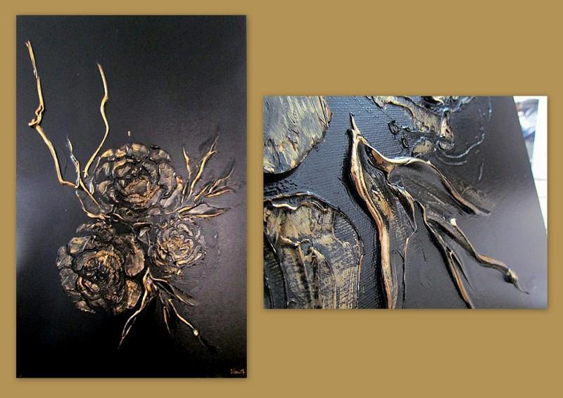 Picturi abstracte/ moderne GOLDEN ROSES 12