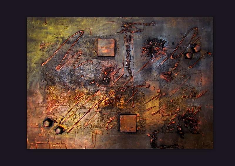 Picturi abstracte/ moderne METALLIC 2