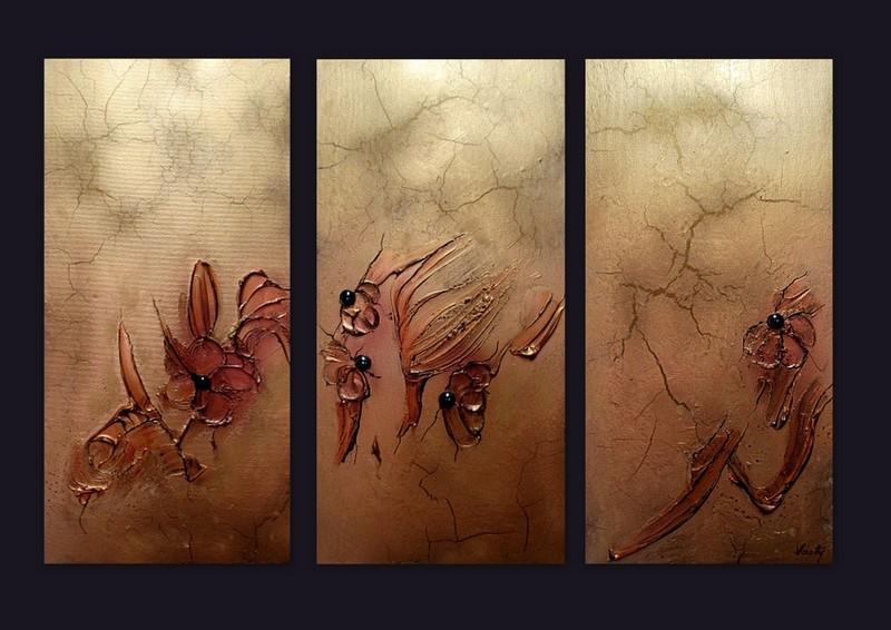 Picturi abstracte/ moderne METTALIC FLOWER 2