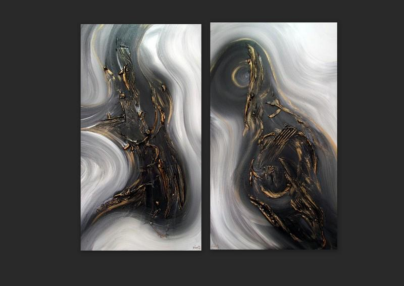 Picturi abstracte/ moderne OPAL 3