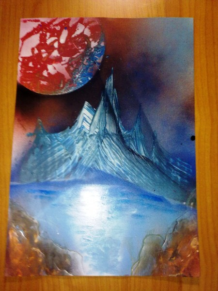 Picturi abstracte/ moderne Glacial
