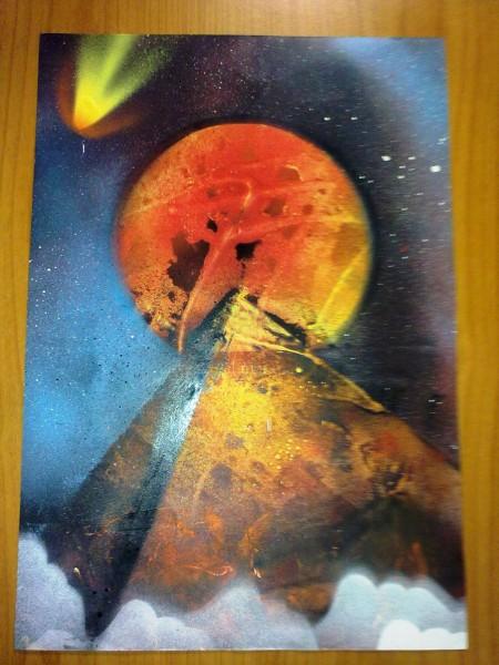Picturi abstracte/ moderne Piramida cosmica