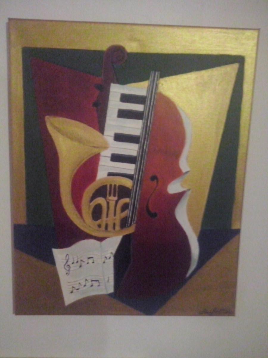 Picturi abstracte/ moderne Instrumente muzicale