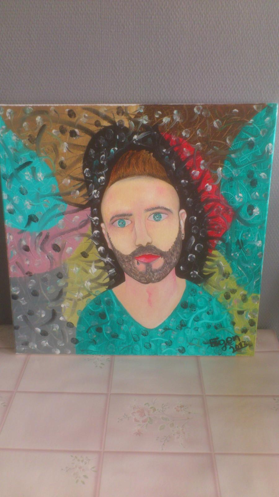 Picturi abstracte/ moderne autoportret eugen