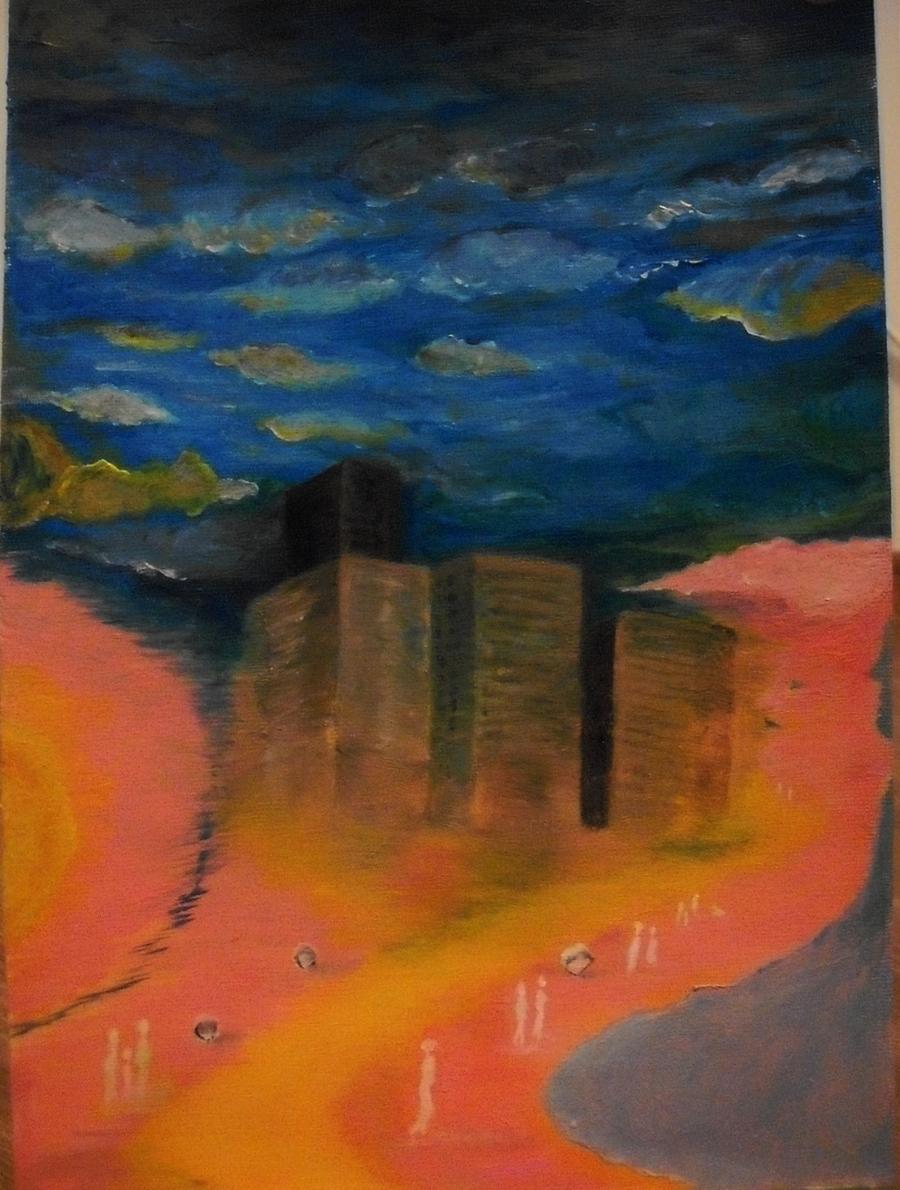 Picturi abstracte/ moderne Orasul Soarelui