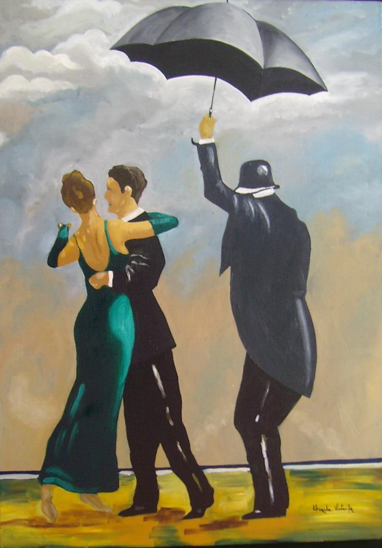 Picturi abstracte/ moderne Dans in ploaie