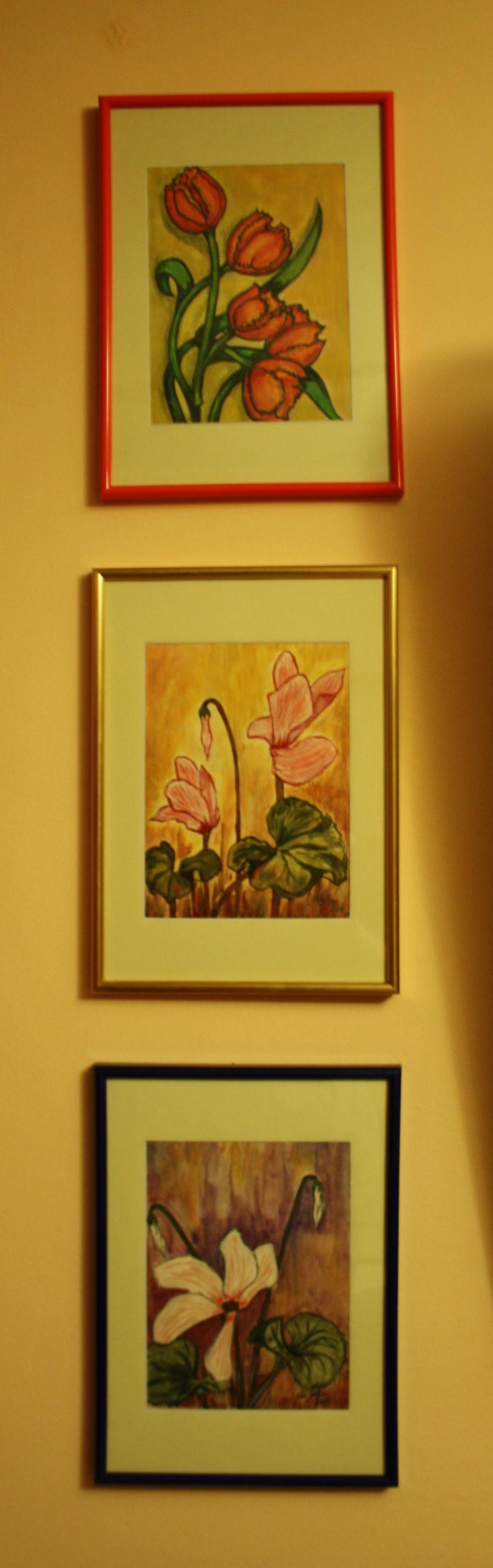 Picturi acuarela Aranjament 3 tablouri