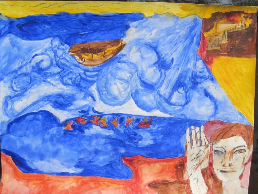 Picturi acuarela Smog la Palatul de vara