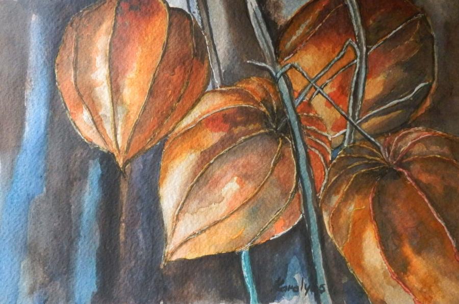 Picturi acuarela Flori de toamna 1