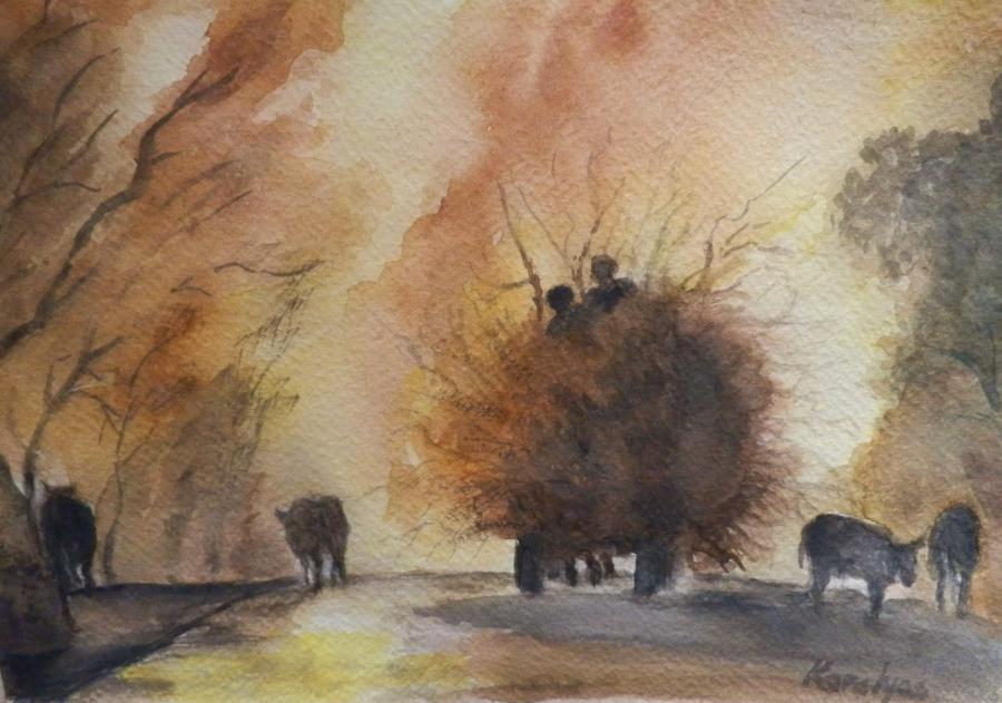 Picturi acuarela Rural 2