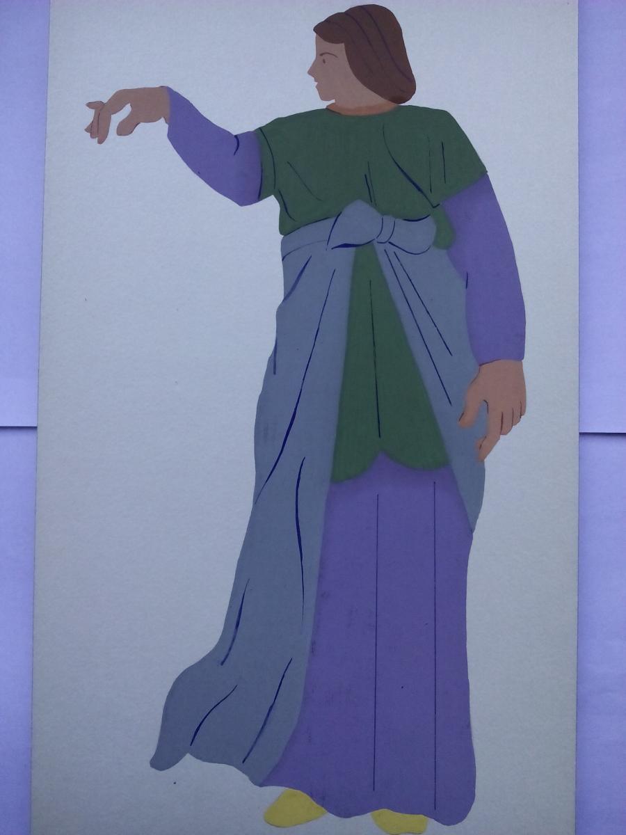 Picturi acuarela Sarmatian noble 2