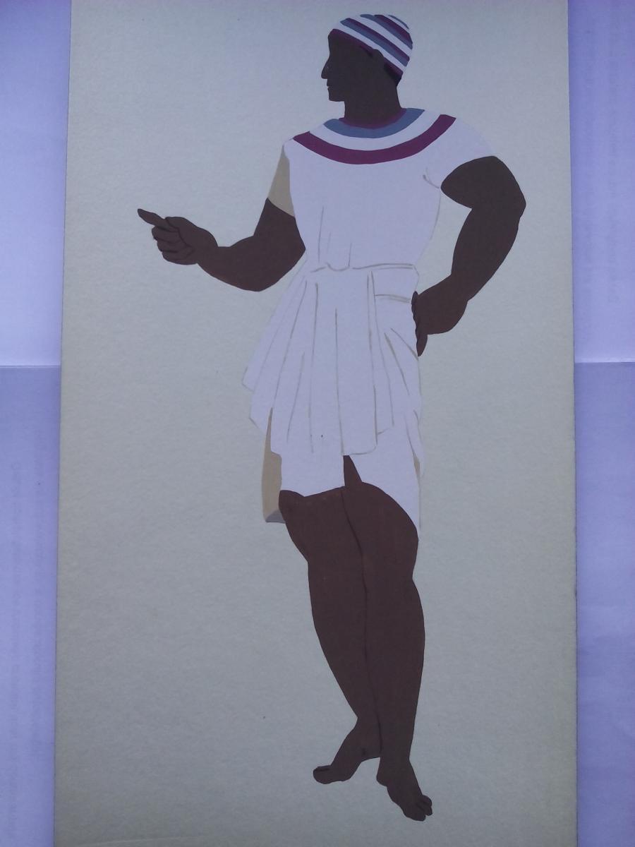 Picturi acuarela The Egyptians Peasant