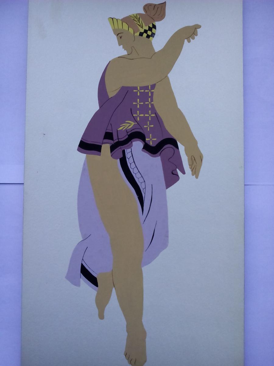 Picturi acuarela The Greeks Dancer