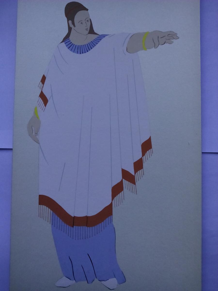 Picturi acuarela The Romans Woman2