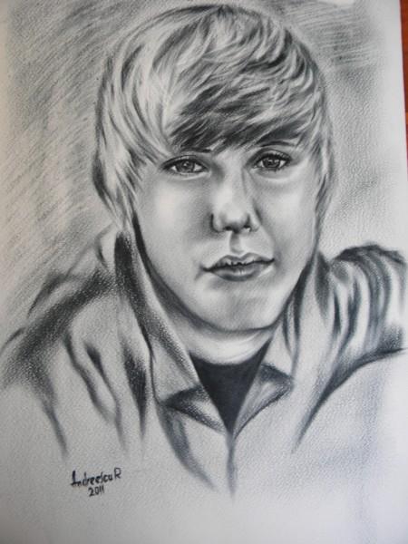 Picturi alb negru Justin bieber