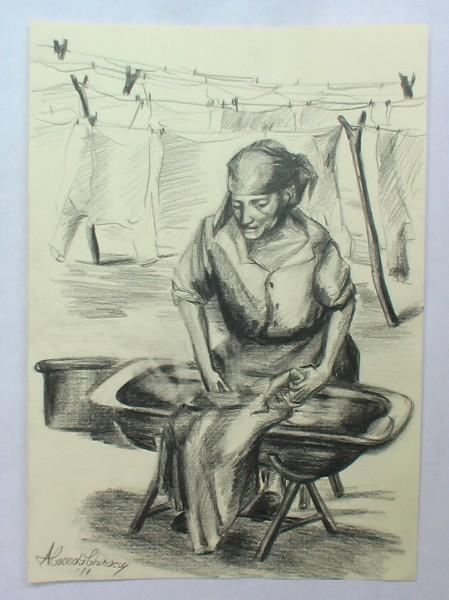 Picturi alb negru Spalatoreasa