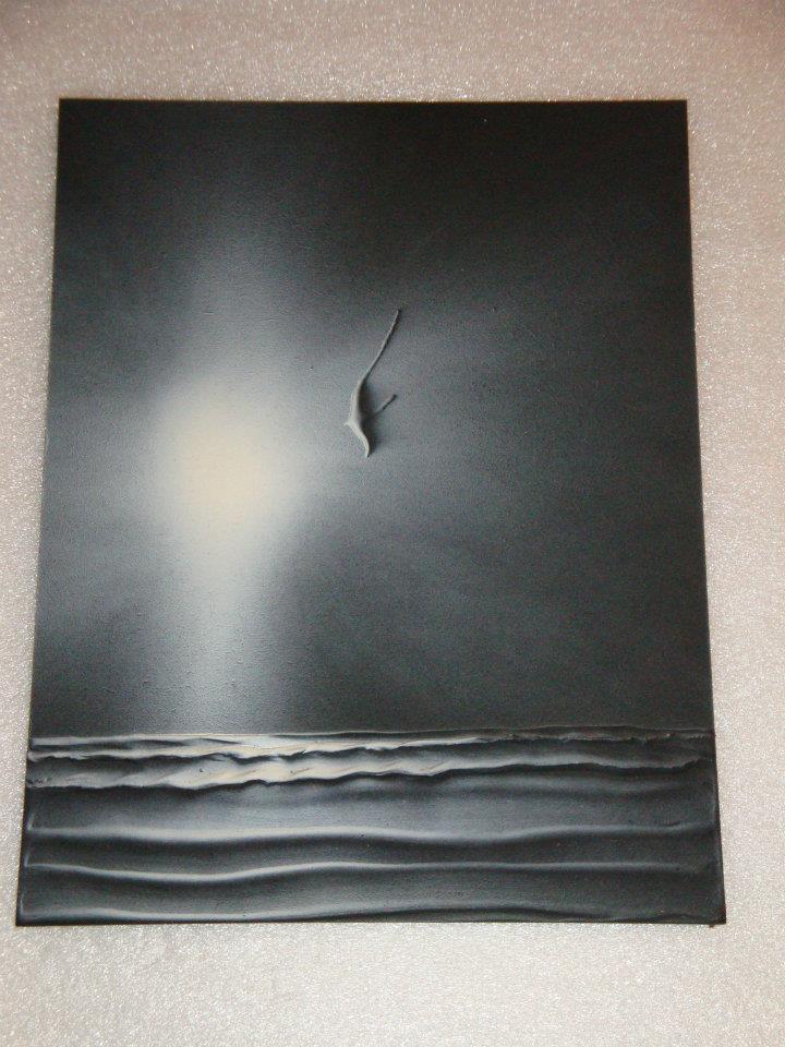 Picturi alb negru Pescarusul