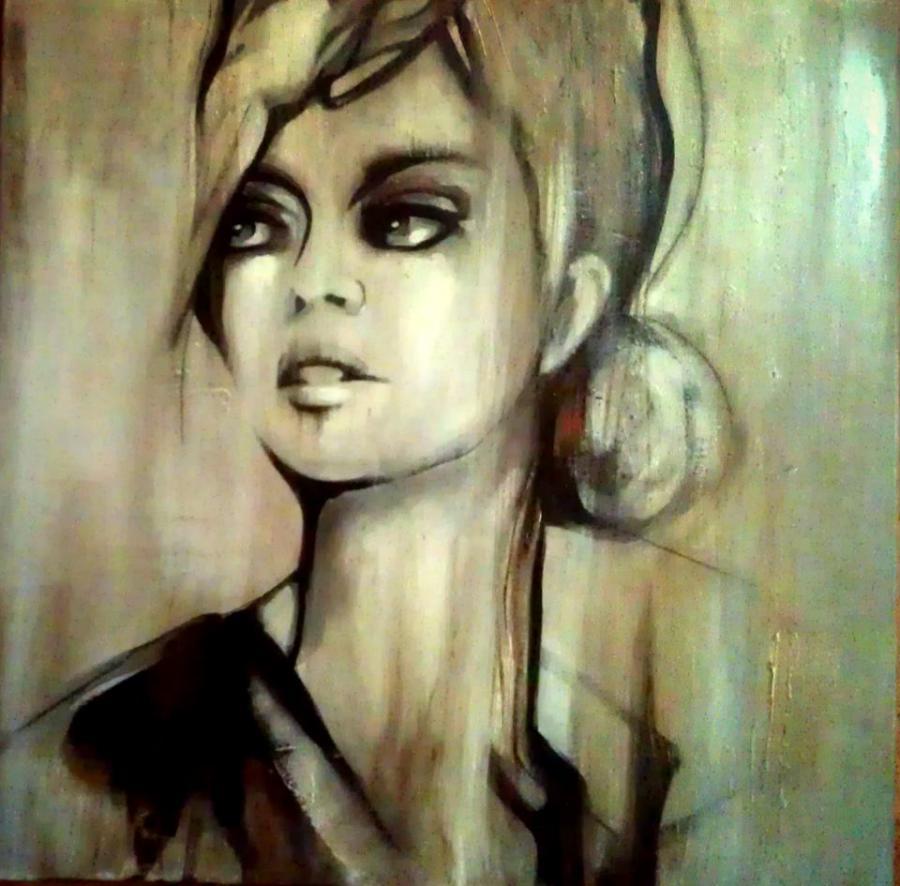 Picturi alb negru Adoratoarea