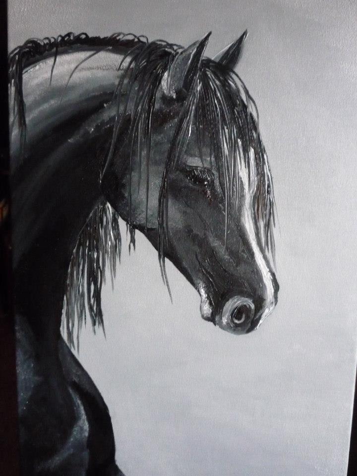Picturi alb negru Rain