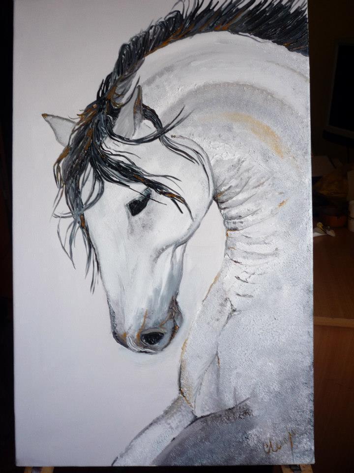 Picturi alb negru Snow