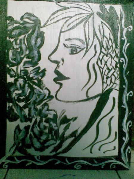 Picturi alb negru Eva