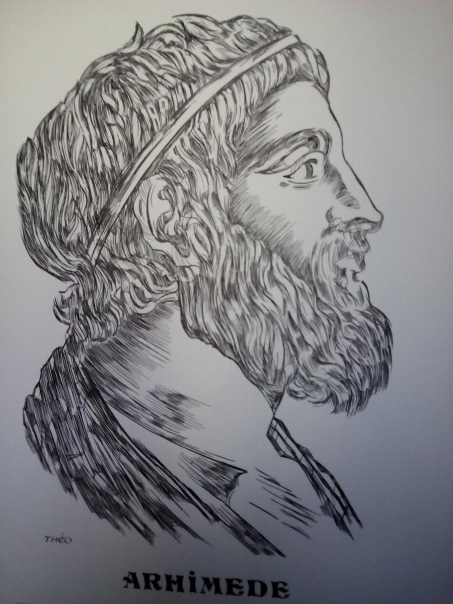 Picturi alb negru Arhimede
