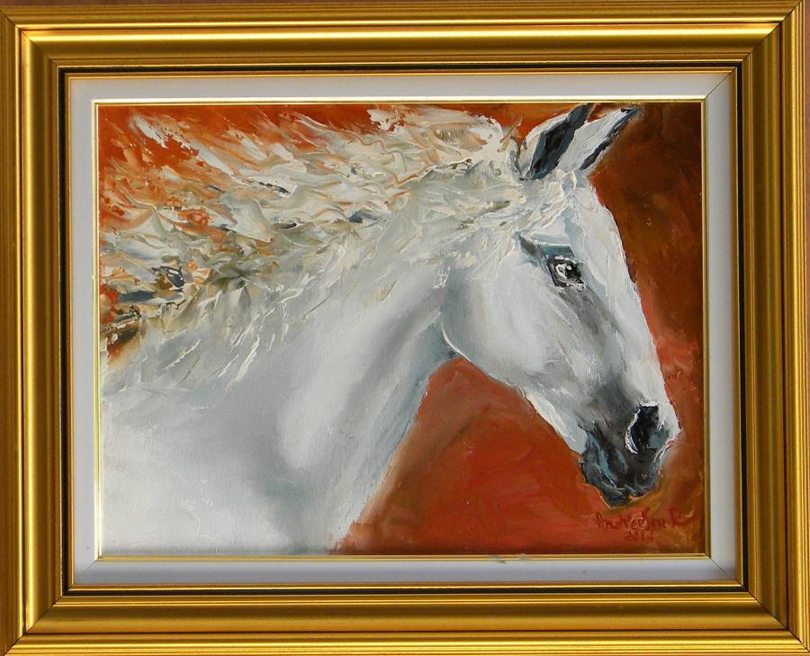 Picturi cu animale CU COAMA IN VANT