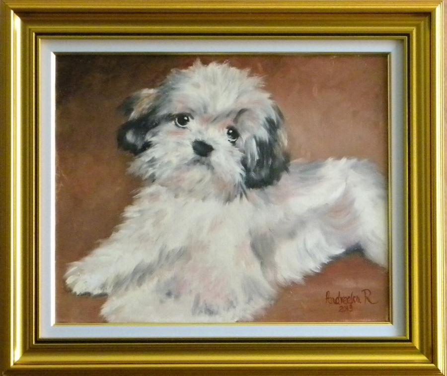Picturi cu animale Portret de catel